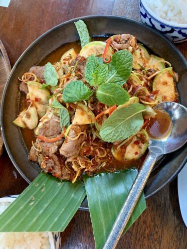 Bangkok jedlo na ulici